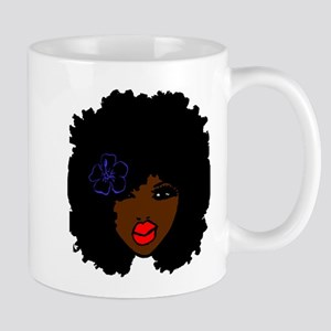 BrownSkin Curly Afro Natural Hair???? PinkLip Mugs