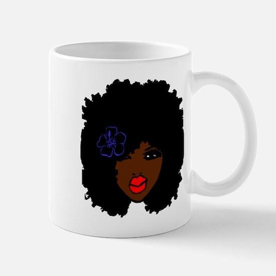 BrownSkin Curly Afro Natural Hair???? PinkLip Mugs