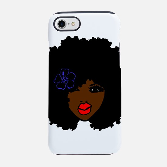 BrownSkin Curly Afro Natural iPhone 8/7 Tough Case