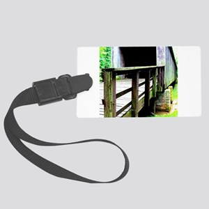 Covered Bridge. Large Luggage Tag