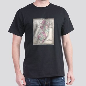 Vintage Map of New Jersey (1855) T-Shirt