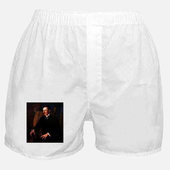 Nikola Tesla - the Blue Portrait Boxer Shorts