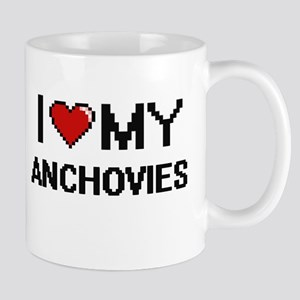 I Love My Anchovies Digital design Mugs
