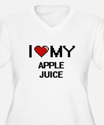 I Love My Apple Juice Digital de Plus Size T-Shirt