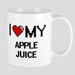 I Love My Apple Juice Digital design Mugs