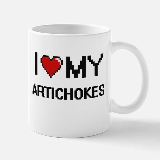 I Love My Artichokes Digital design Mugs