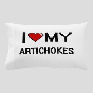 I Love My Artichokes Digital design Pillow Case