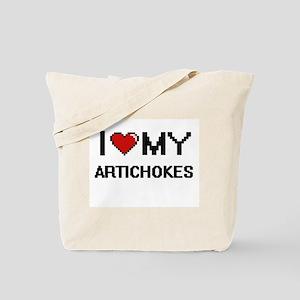 I Love My Artichokes Digital design Tote Bag