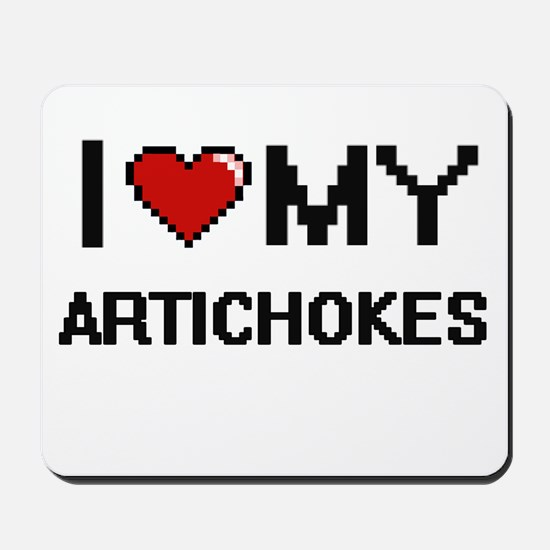 I Love My Artichokes Digital design Mousepad