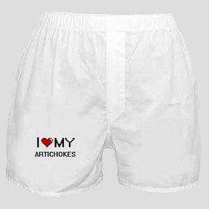 I Love My Artichokes Digital design Boxer Shorts