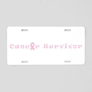 Breast Cancer Survivor Spir Aluminum License Plate