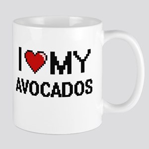I Love My Avocados Digital design Mugs