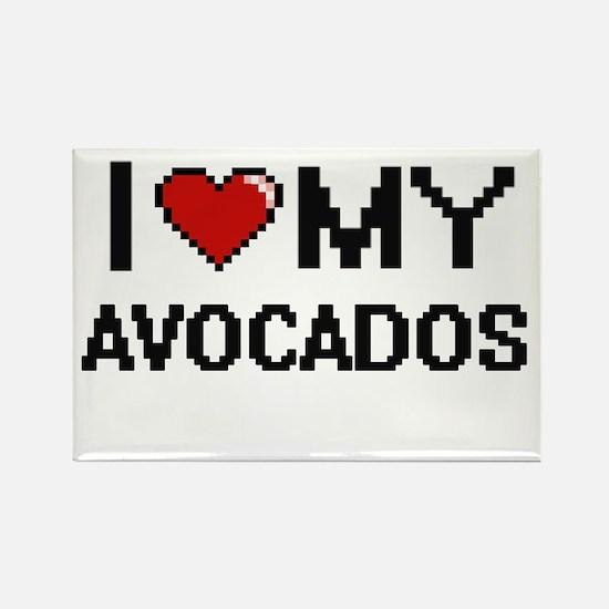 I Love My Avocados Digital design Magnets