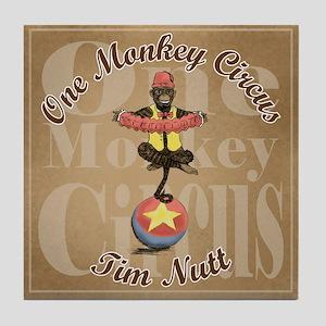 One Monkey Circus Tile Coaster