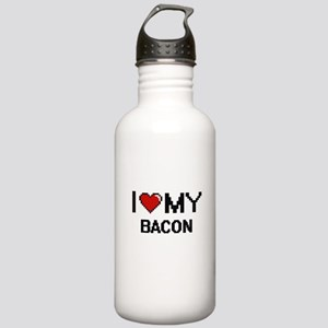 I Love My Bacon Digita Stainless Water Bottle 1.0L