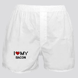 I Love My Bacon Digital design Boxer Shorts