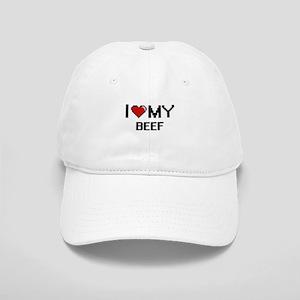I Love My Beef Digital design Cap