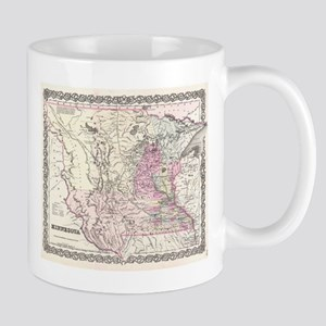 Vintage Map of Minnesota (1855) Mugs