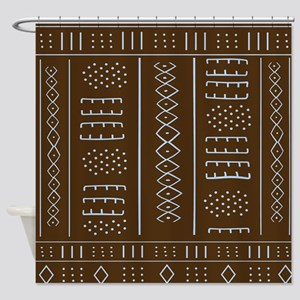 African Mud Cloth Pattern Shower Curtain