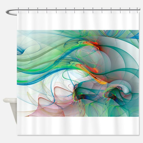 Abstract 1044 Shower Curtain