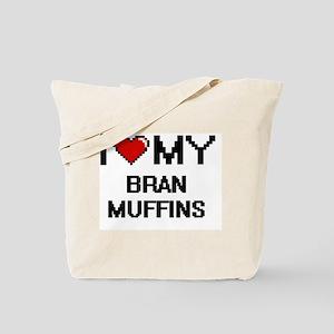 I Love My Bran Muffins Digital design Tote Bag