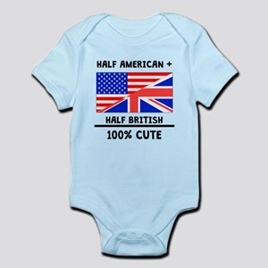 Half British 100% Cute Body Suit