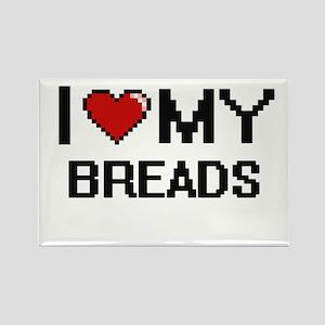I Love My Breads Digital design Magnets