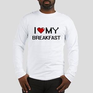 I Love My Breakfast Digital de Long Sleeve T-Shirt
