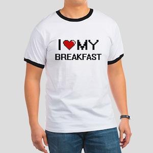 I Love My Breakfast Digital design T-Shirt