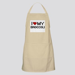 I Love My Broccoli Digital design Apron