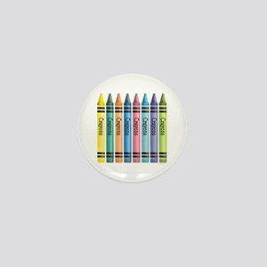 Colorful Crayons Mini Button