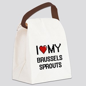 I Love My Brussels Sprouts Digita Canvas Lunch Bag