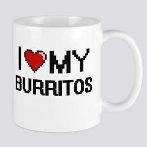 I Love My Burritos Digital design Mugs