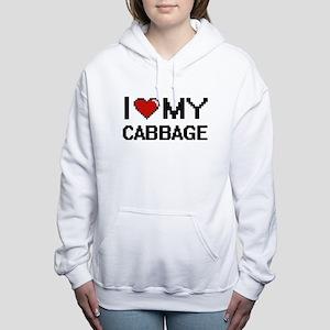 I Love My Cabbage Digita Women's Hooded Sweatshirt