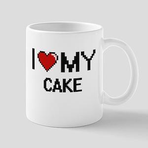 I Love My Cake Digital design Mugs