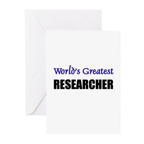 Worlds Greatest RESEARCHER Greeting Cards (Pk of 1