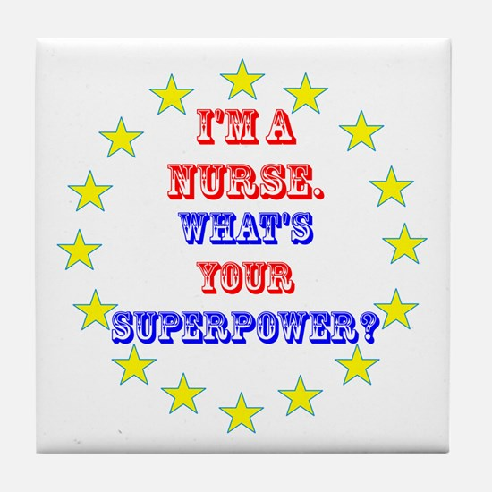 Superhero Nurse Tile Coaster