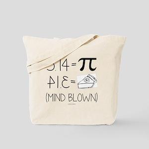 3.14 Pi Equals Pi Backwards Tote Bag