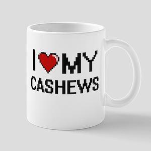 I Love My Cashews Digital design Mugs