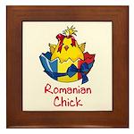 Romanian Chick Framed Tile