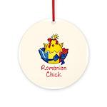 Romanian Chick Ornament (Round)