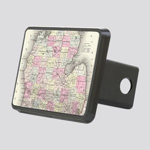Vintage Map of Michigan (1 Rectangular Hitch Cover