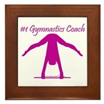 Gymnastics Framed Tile - Coach