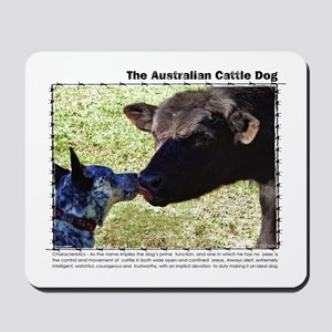 Kissing Cows Mousepad