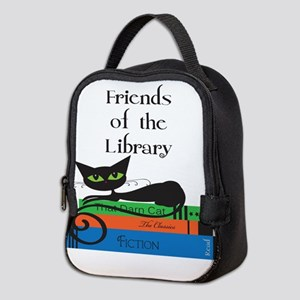 friends of the library black ca Neoprene Lunch Bag