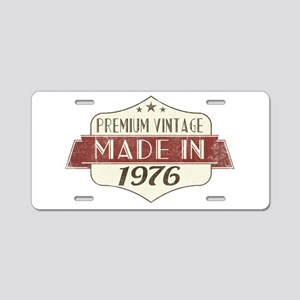 Vintage Born in 1976 40th B Aluminum License Plate