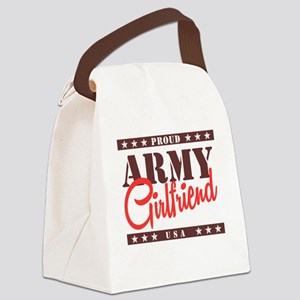 Proud Army Girlfriend Canvas Lunch Bag