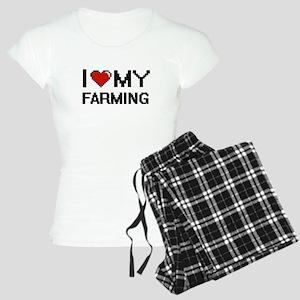 I Love My Farming Digital d Women's Light Pajamas