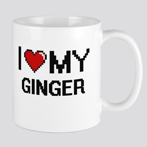 I Love My Ginger Digital design Mugs
