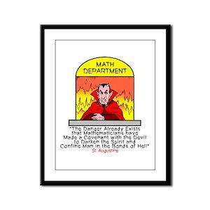 Mathematicians and Satan Framed Panel Print